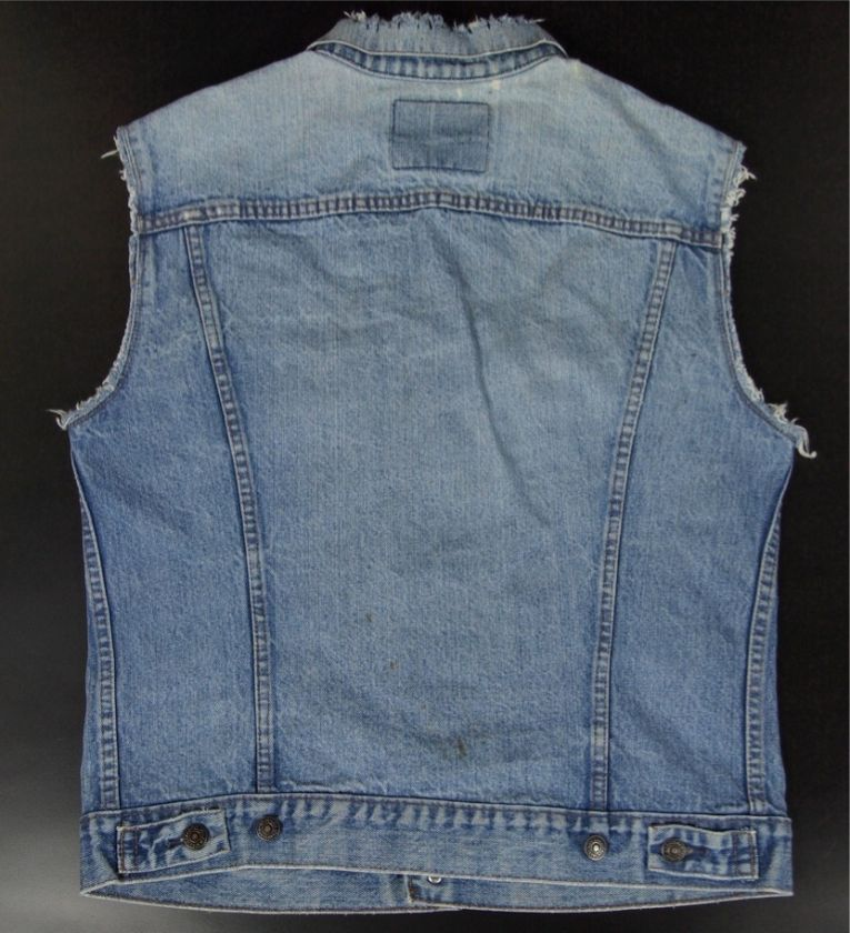 Hipster Jean M Denim Levis Punk 40 Vest Jacket Men Blue Sleeveless Vtg Rc34ALqS5j