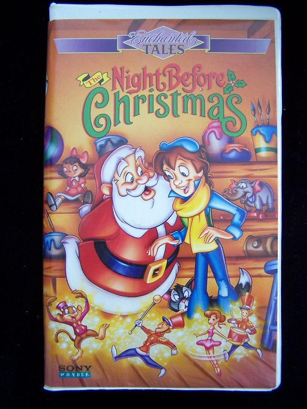 THE NIGHT BEFORE CHRISTMAS 1994 VHS Enchanted Tales 074644960334