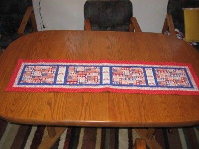 Handmade quilted Table Runner 4th of July Patriotic