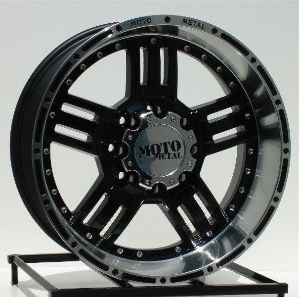 20 inch Black Wheels/Rims Chevy HD Dodge Ram H2 8 Lug