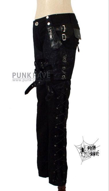 Gothic PUNK visual kei Rock street Rock Belt trousers pants S XXL FREE